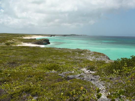 Conch Bar, Middle Caicos: Starting off on the Crossing Place Trail