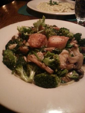 Colao's : Brocoli seafood over linguini, PERFECT.
