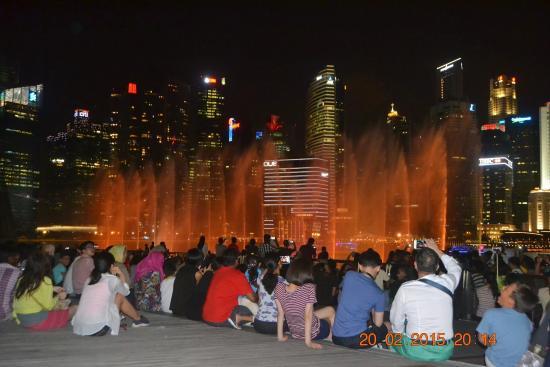 Marina Bay, Singapur: Laser & Water show