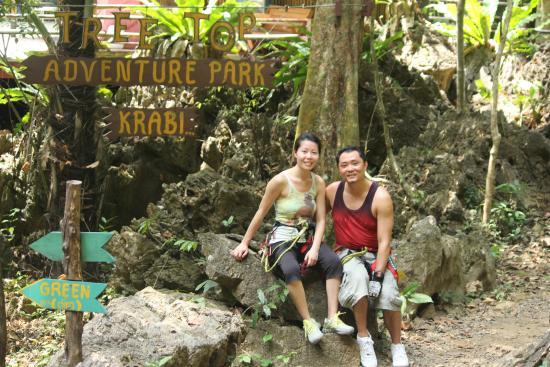 Tree Top Adventure Park Krabi: the entrance