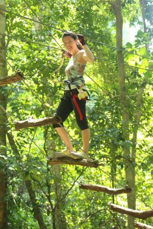 Tree Top Adventure Park Krabi: steps
