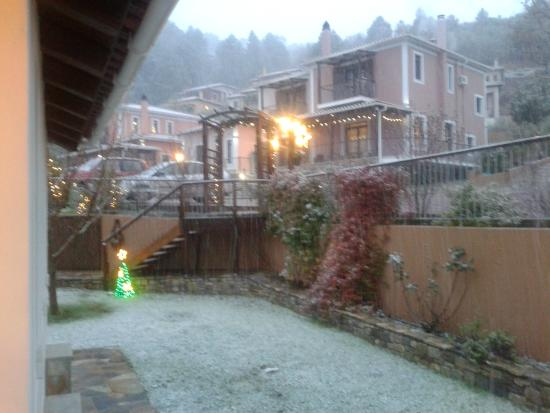 Toriza Restaurant: christma's snow