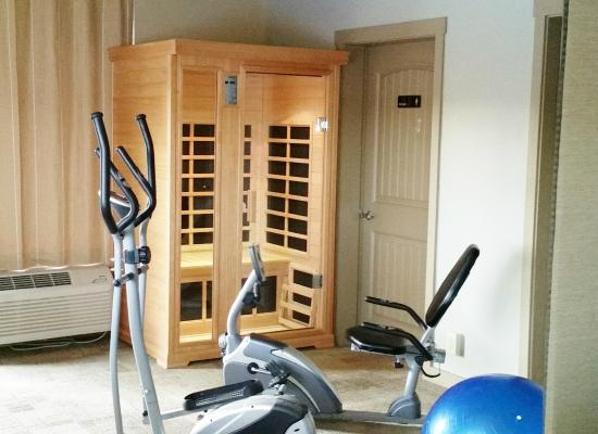 Blue Lakes Inn : Sauna & fitness equipment