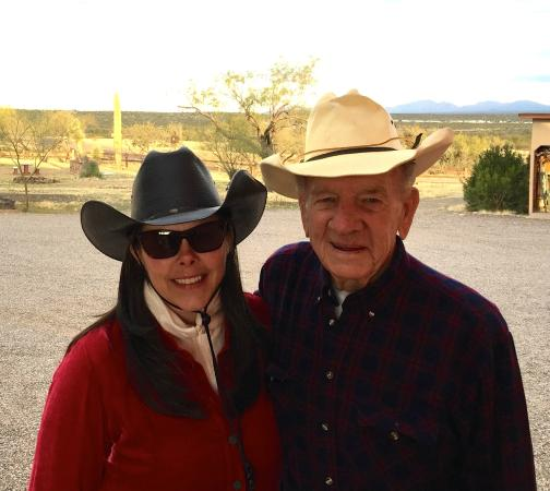 Flying E Ranch : Grandpa and his granddaughter.
