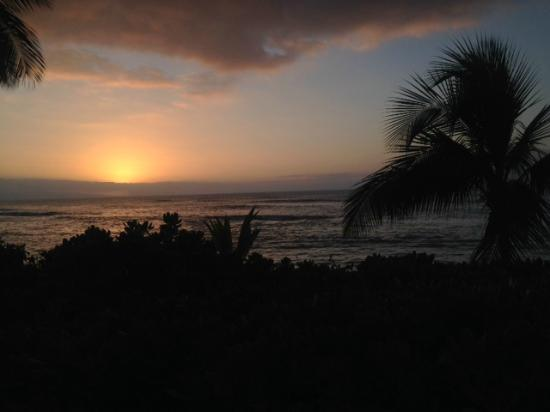 The Mauian Hotel on Napili Beach: View from our Ocean Front Lanai