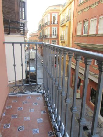 Hotel Trebol: view from balcony to the left where market is