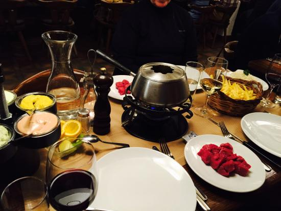 Restaurant Stadel : Delicious foundue at Stadel Restaurant in Zermatt