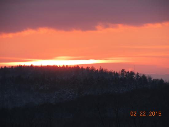 Lucerne Inn: sunset from dining room