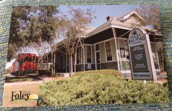 Foley Railroad Depot & Archives Museum: Free postcard