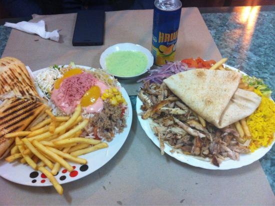 Kass Kroute : Chawarma plat et panini poulet