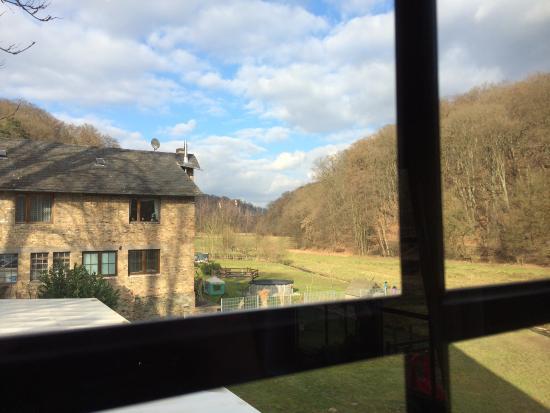 Hockenberger Mühle: View on garden feb 2015