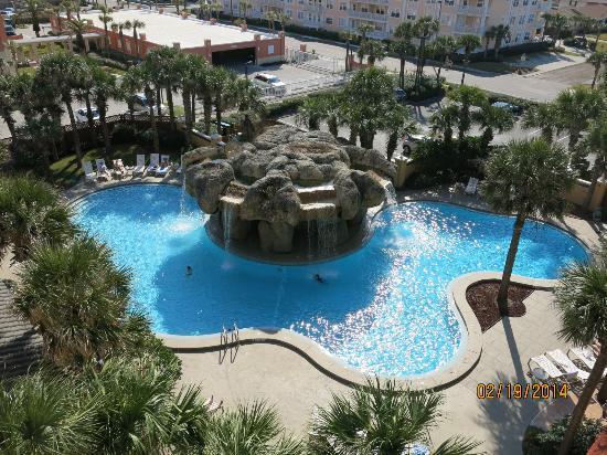 Hampton Inn Jacksonville Beach Oceanfront Pool View From Balcony