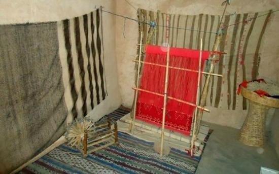 Ecomusee Berbere: tissage dans le musée
