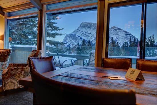 Tunnel Mountain Resort: View from the Two Bedroom Suite Living Room