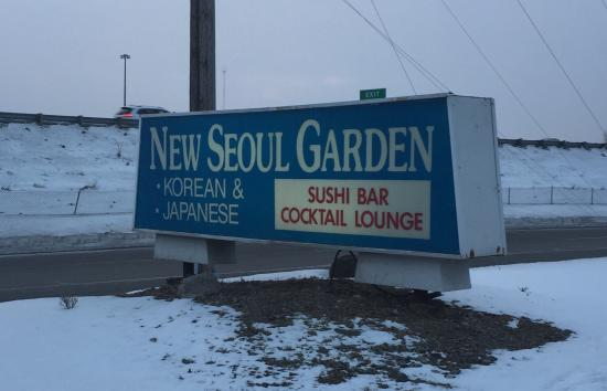 New Seoul Garden Restaurant: Sign