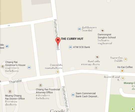 The Curry Hut: Map on google is incorrect! This is right