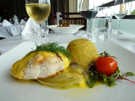 Seared fresh fish of the day picture of thyme restaurant for Fish thyme menu