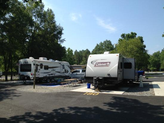 Kings Dominion Camp Wilderness Campground: Double sites...awning to awning