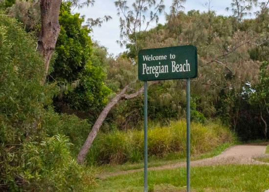 Peregian Beach : Entry sign
