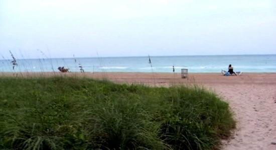 Bal Harbour Beach: La playa frente al Sheraton.