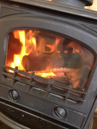 Lyrebird cottages : Log fire