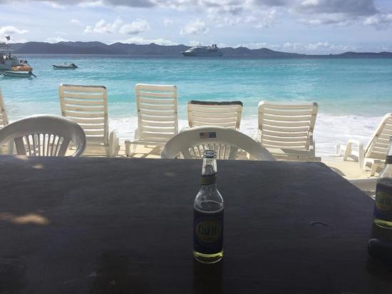 """One Love Bar and Grill : view looking out from """"One Love Bar & Grill"""