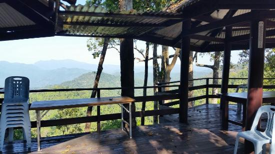 Kaeng Krachan National Park: View from the overlook by the royal family's camp cabins.