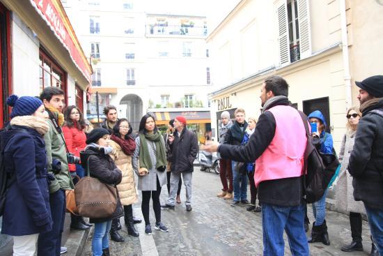 Paris, France: Bruno explaining