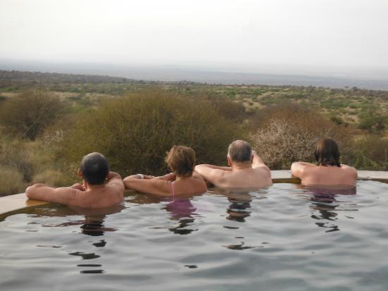 Satao Elerai: Watching wildlife from the pool
