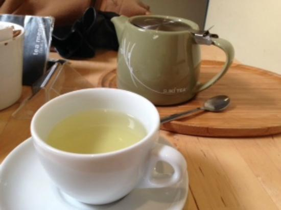 Cafe U: Green tea and ginseng - just one of many speciality teas