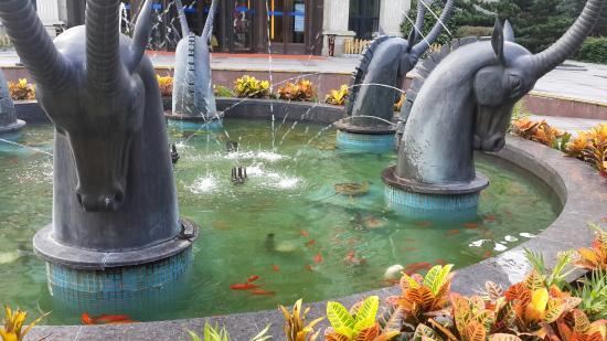 Grand Park Jiayou Hotel: La fuente que esta en recepción