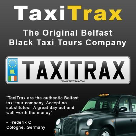 Taxi Trax: TaxiTrax - The original Belfast black taxi tour company