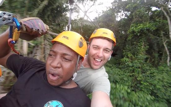 Caribe Sky Canopy Tour: brought our own gopro to take pics!