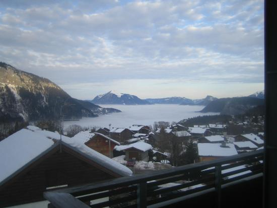 la Croix de Savoie: Lovely view from our bedroom!