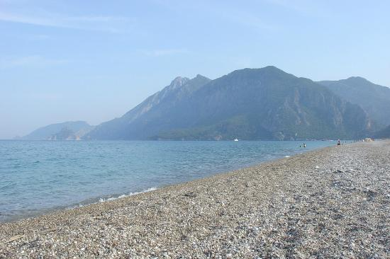 Akdeniz Bahcesi: The view of the Cirali beach from our side