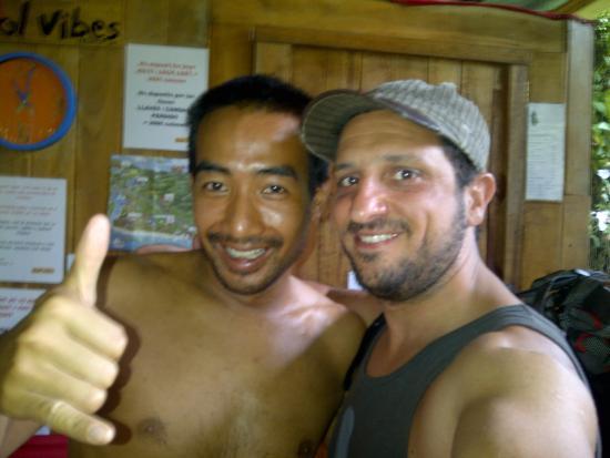 Cool Vibes Beach Hostel: el frances dueño del hostel un tipo genial