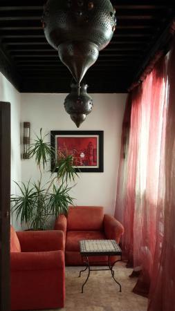 Riad Calista: saloncito privado exterior
