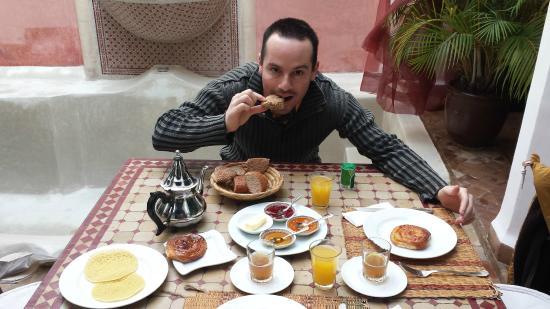Riad Calista: desayuno
