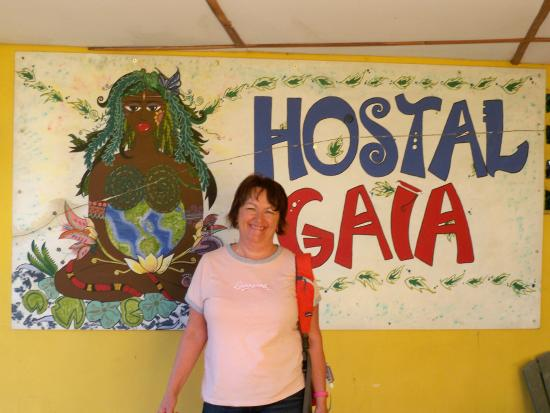 Hostal Gaia: Welcome sign