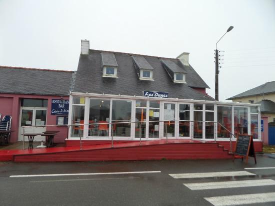 restaurant les dunes : Le restaurant, la véranda terrasse