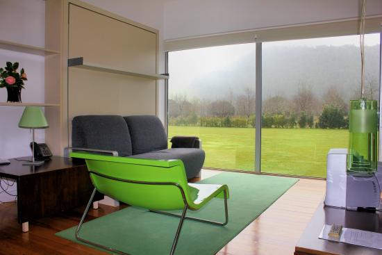 Furnas Lake Villas: The living room.