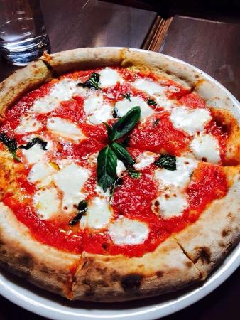 Valentinas Trattoria Italiana Wood Fired Oven Margherita Pizza Classic Hand