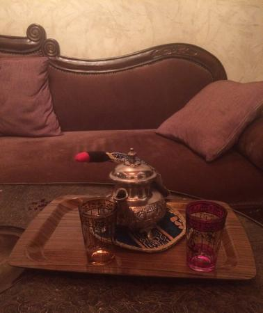 Riad Lorsya: They will bring Moroccan mint tea to your room at any time