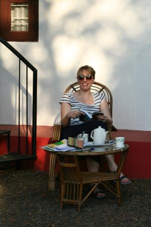 Eden Garden Heritage Homestay: Tea outside our room