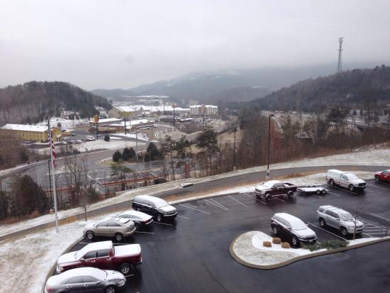 Fairfield Inn & Suites Chattanooga I-24/Lookout Mountain: View from our room during the recent winter blast...normally, you can see Lookout Mountain.