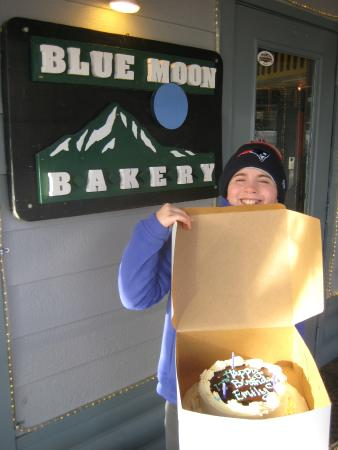 Blue Moon Bakery: My daughter and her birthday cake