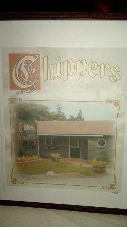 Chipper's Restaurant: Menu cover