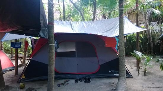 Cenote Encantado: La tente à notre disposition