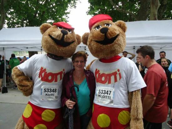 Wild- und Freizeitpark Klotten Cochem: Klotti  beim Firmenlauf  in Koblenz