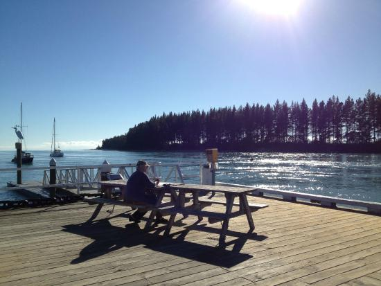Wheelie Fantastic Cycle Hire & Tours: Just chilling at Mapua Wharf